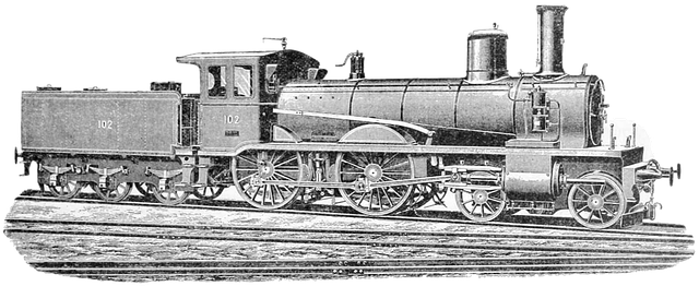 Drawing of a train